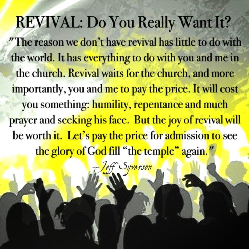 Revival: Do We Really Want It? (July 23)