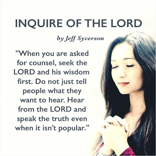 InquireoftheLORD